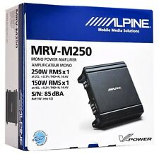 Alpine MRV-M250 Mono Car Audio Amplifier/1-Channel Car Amp VPower Series Class D