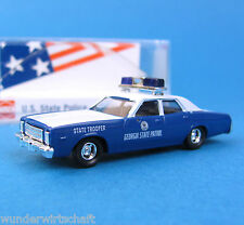 Busch H0 46671 PLYMOUTH FURY US State Police GEORGIA OVP HO 1:87 box