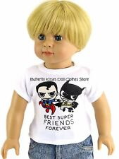 Best Super Friends Shirt Doll Clothes Made For 15 18 in American Girl /Boy Dolls