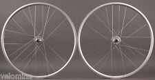 Velocity Aero Rims Silver Fixed Gear Track Bike Singlespeed Wheelset Wheels 32 H