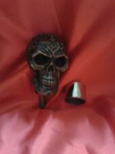 GOTHIC STYLE SKULL(NO-4)/WALKING STICK HANDLE/COLD CAST BRONZE EFFECT