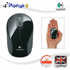 NUOVO (NON IN SCATOLA) Logitech m187 Wireless Mini Mouse Nero Grigio UK STOCK