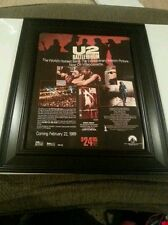U2 Rare Rattle and Hum Pre-Release Promo Poster Ad Framed! Printed Once!