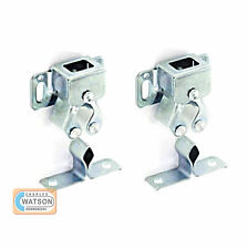 2x Metal DOUBLE ROLLER CATCH Zinc Plated Door Cupboard Caravan Boat Latch Silver