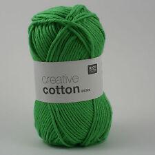 Rico creative Algodón aran - 100% Algodón Tejer & Hilo De Ganchillo-Verde claro 40