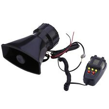 100W 12V Car Alarm Loud Speaker PA Siren Horn MIC Emergency Microphone 5 Sound