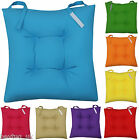 NEW COLOURFUL SEAT PAD DINING ROOM GARDEN KITCHEN CHAIR CUSHIONS - VELCRO TIE ON