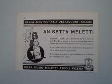 advertising Pubblicità 1938 ANISETTA MELETTI