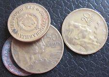 10 - 20 - 50 Dinara lotto Jugoslavia  4 Monete 1955 e 1965  - n.1173