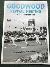 Jacky Ickx Hand Signed Goodwood Revival Meeting Poster 2000 Very Rare 1.