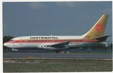 Continental Airlines Boeing 737-247 Aviation Postcard, A662