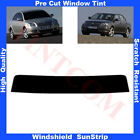 Pre Cut Window Tint Sunstrip for Toyota Avensis 4D Saloon 2003-2008 Any Shade
