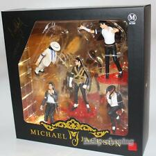 "4"" King of Pop Michael Jackson 5 Pose Figurines set Doll Statue With Box"