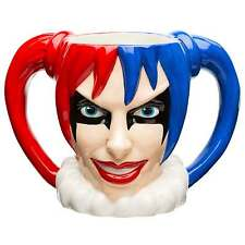BTMC-8513 DC Comics Harley Quinn Sculpted 10oz Coffee Mug Tea Cup Batman Villain