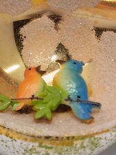 Weihnachtsschmuck Christbaumschmuck Kugel Reflex Vogel Bird  Gablonz 50 Jahre
