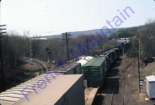 1976 Orig 35mm Slide B&M Freight Train E Deerfield MA  Boston &  Maine 90
