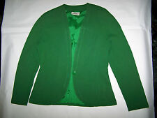 "GIACCA ""MISSONI ""  VTG 80 100% SETA GREEN JACKET MADE IN ITALY TG 44"