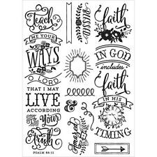 Prima - Love, Faith, Scrap Planner Cling Stamps - QUOTE