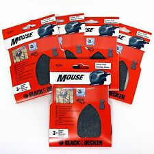 15 BLACK & DECKER A2341 MOUSE SANDER COARSE WIRE WOOL SHEETS FOR GLASS & METAL