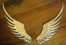 Wings Flügel - Car Styling - Metall Sticker Decal - 3D-Emblem - Chrom-Optik