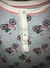 Bicycle Print Pajama Shirt  Thermal Christmas XL Urban Outfitters Modcloth Top
