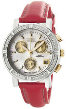 Invicta Mother of Pearl Dial Red Leather Strap Women's Chronograph Watch 4719