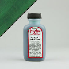 Angelus GREEN LEATHER DYE 3oz Bottle Industry Strength Dye Vibrant Colors