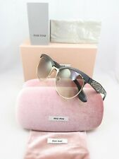 Miu Miu SMU 54Q 1BO-0A7 Black Crystal Rocks New Authentic Sunglasses 56/18/145mm