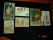 6 Lot old Victorian Advertising Trade Cards Postcard PINAUD PERFUME Thread card