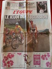 journal  l'équipe 22/07/2010 CYCLISME TOUR DE FRANCE 2010 CONTADOR SCHLECK