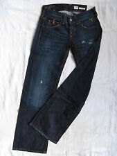 Replay Damen Blue Jeans Denim Baggy W27/L34 extra low waist loose fit wide leg