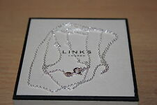GENUINE LINKS OF LONDON STERLING SILVER DC CABLE PENDANT NECKLACE 85 CM