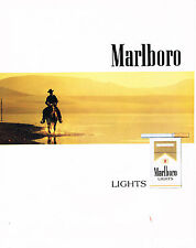 PUBLICITE ADVERTISING 073 1988    MARLBORO   light cigarettes            310713