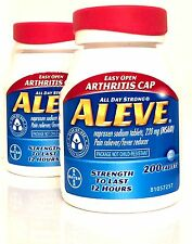 ALEVE 220 mg NAPROXEN SODIUM 2 X 200 TABLETS (400 TOTAL) EXP 04/18 OR LATER