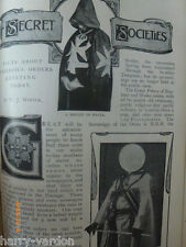 Secret Societies Great Priory Knight Malta Templar Rose Croix Old Article 1900