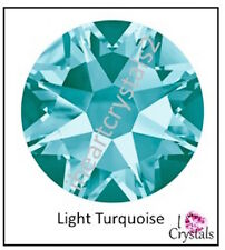 LIGHT TURQUOISE Swarovski 34ss 7mm Crystal 2058 Flatback Rhinestones 6 piece