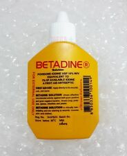BETADINE POVIDONE IODINE FIRST AID SOLUTION ANTISEPTIC CUTS WOUNDS 30 cc.