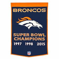 "Denver Broncos Embroidered Wool Dynasty 24"" x 36"" Banner Pennant"