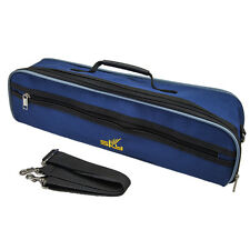 Paititi High Quality C Foot Flute Hard Case with Shoulder Strap Deep Blue Color