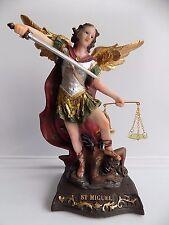 """8"""" St. Michael Statue / Figurine   -Saint Michael -San Miguel  Estatua de 20 cm."""
