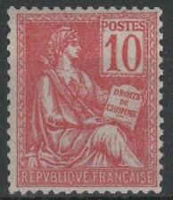 """FRANCE STAMP TIMBRE N° 116 """" MOUCHON 10c ROUGE TYPE II """" NEUF xx LUXE  M551"""
