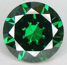 12mm ROUND-FACET EMERALD-GREEN CUBIC ZIRCONIA GEMSTONE £1 NR!