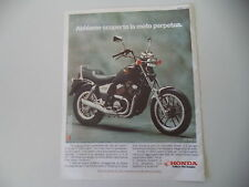 advertising Pubblicità 1986 MOTO HONDA VT 500 C CUSTOM