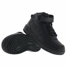 BRAND NEW BLACK JUNIOR NIKE AIR FORCE 1 MID TRAINERS UK 13.5 EU 32 RRP £65