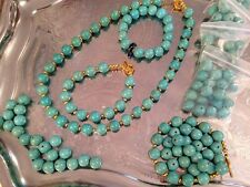 Natural gemstone turquoise 12mm beads for jewellery making feng chui wealth