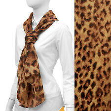 New Light Weight Brown Leopard Pattern Chiffon Scarf