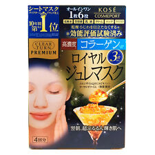 Kose Clear Turn Premium Collagen Royal Jelly Mask 4 Sheets
