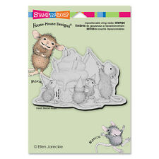 HOUSE MOUSE RUBBER STAMPS CLING BIRTHDAY CONE STAMP