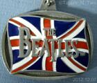 1996 Beatles British Flag Keychain Apple Corps Limited KCB-3 USA Key Chain (FF)