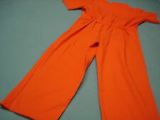 Inmate Jail Prisoner Convict Costume Prison Orange Jumpsuit 2XL